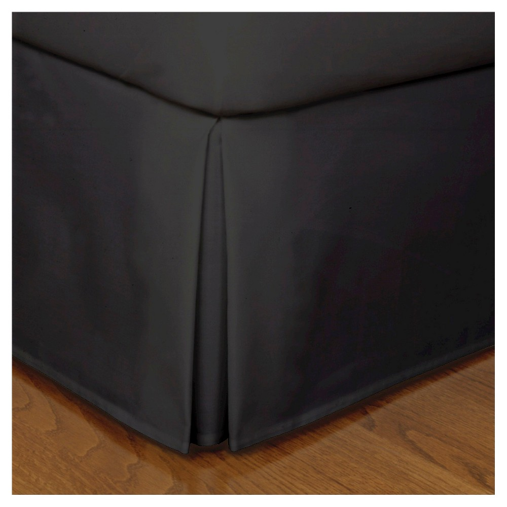 Image of Black Tailored Microfiber 14 Bed Skirt (Twin)