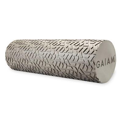 "Gaiam Restore 18"" Textured Foam Roller - Gray"