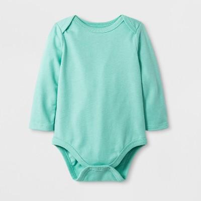 Baby Boys' Long Sleeve Bodysuit - Cat & Jack™ Aqua <br>0-3M