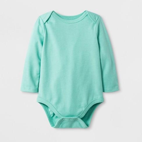 7abdc5eec1a8 Baby Boys  Long Sleeve Lap Shoulder Bodysuit - Cat   Jack™ Aqua   Target