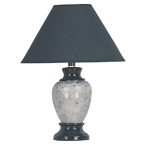 Ceramic Table Lamp-Black/White (Lamp Only)