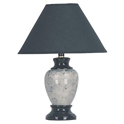 Ceramic Table Lamp Black/White