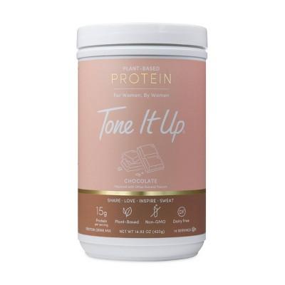 Tone It Up Plant-Based Protein Powder - Chocolate - 14.82oz