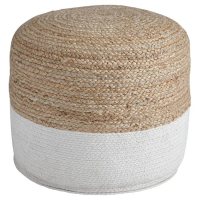 Sweed Valley Pouf Natural/White - Signature Design by Ashley