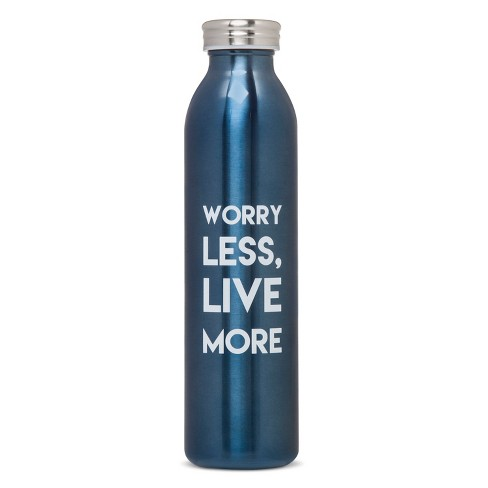 20oz Stainless Steel Insulated Retro Water Bottle - Blue Metallic - image 1 of 1