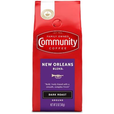 Community Coffee New Orleans Blend Ground Dark Roast Coffee - 12oz