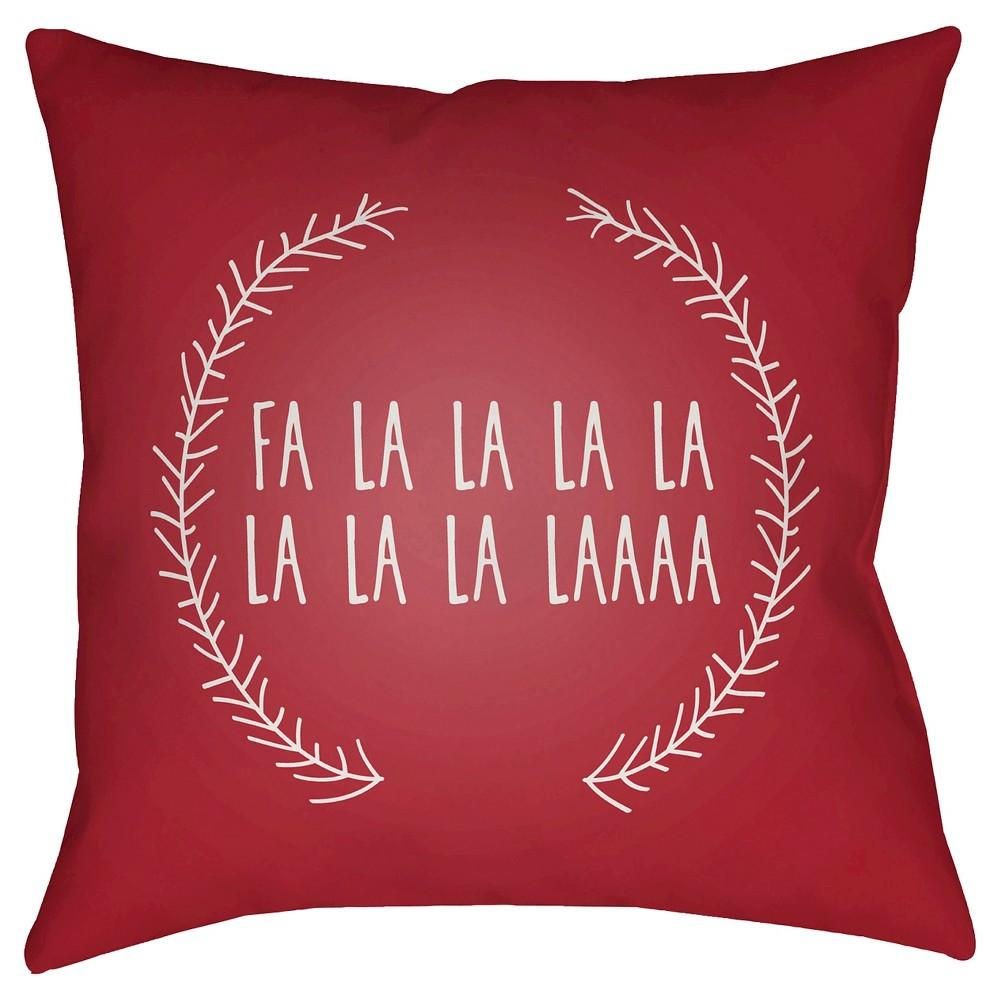 Red Falala Throw Pillow 20
