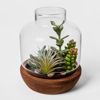 Faux Succulent in Vase - Threshold™