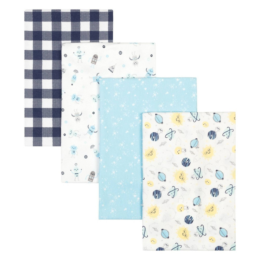 Trend Lab Flannel Receiving Blankets Space 4pk