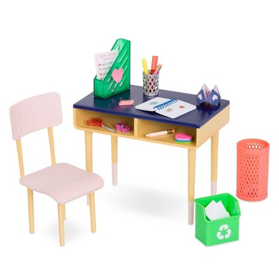 "Our Generation Brilliant Bureau Home Desk Accessory Set for 18"" Dolls"
