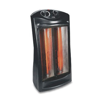 Optimus H-5235 Portable Ultra Quiet Fan Forced Tower Quartz Room Space Heater with Thermostat for Indoor Home Space Heating, Black