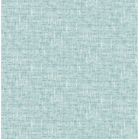 Nuwallpaper Poplin Texture Peel Stick Wallpaper Aqua Target