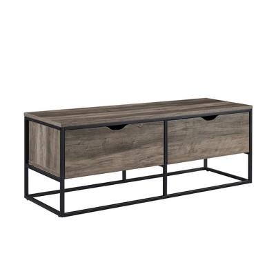 Drew Modern 2 Drawer Entry Storage Bench - Saracina Home