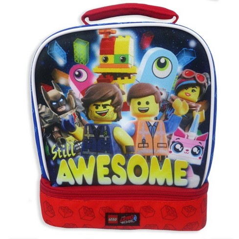 LEGO Movie 2 Dual Compartment Lunch Bag - Blue - image 1 of 4