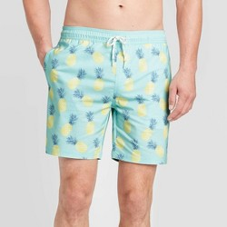 "Men's 7"" Posca Swim Trunks - Goodfellow & Co™ Tropical Teal"