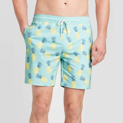 "Men's 7"" Posca Swim Trunks - Goodfellow & Co™ Tropical Teal  - image 1 of 3"