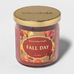 15.1oz Lidded Glass Jar 2-Wick Fall Day Candle - Opalhouse™