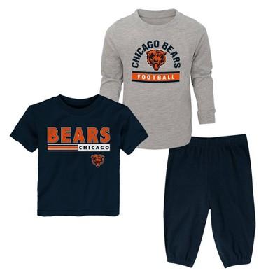 NFL Chicago Bears Toddler Boys' Gametime Fun T-Shirt & Pants Set 3pk