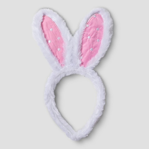 Easter Pink and White Bunny Ears - Spritz™ - image 1 of 2
