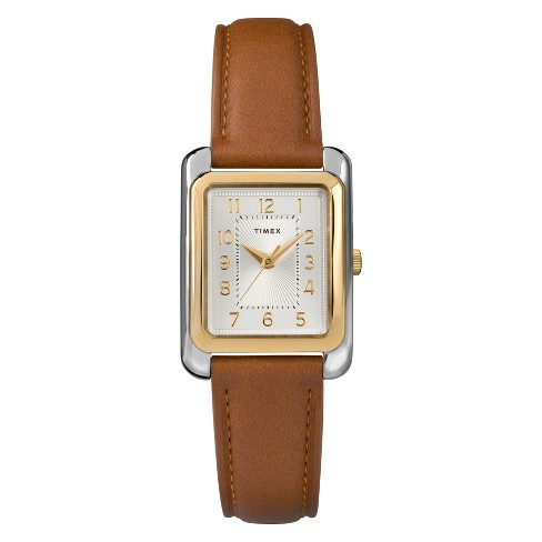 Women's Timex Watch With Leather Strap - Two Tone/Tan TW2R89500JT - image 1 of 3