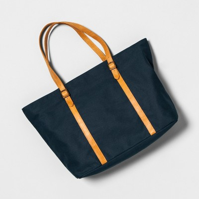 Large Tote Bag Blue - Hearth & Hand™ with Magnolia