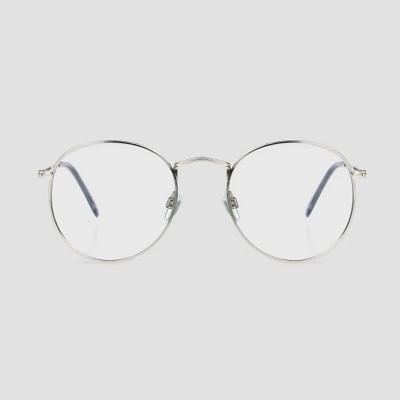Men's Round Blue Light Filtering Glasses - Original Use™ Silver