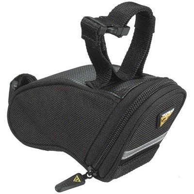 Topeak Aero Wedge Seat Bag: Strap-on, Micro, Black