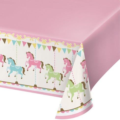 Creative Converting Carousel Plastic Tablecloth Target
