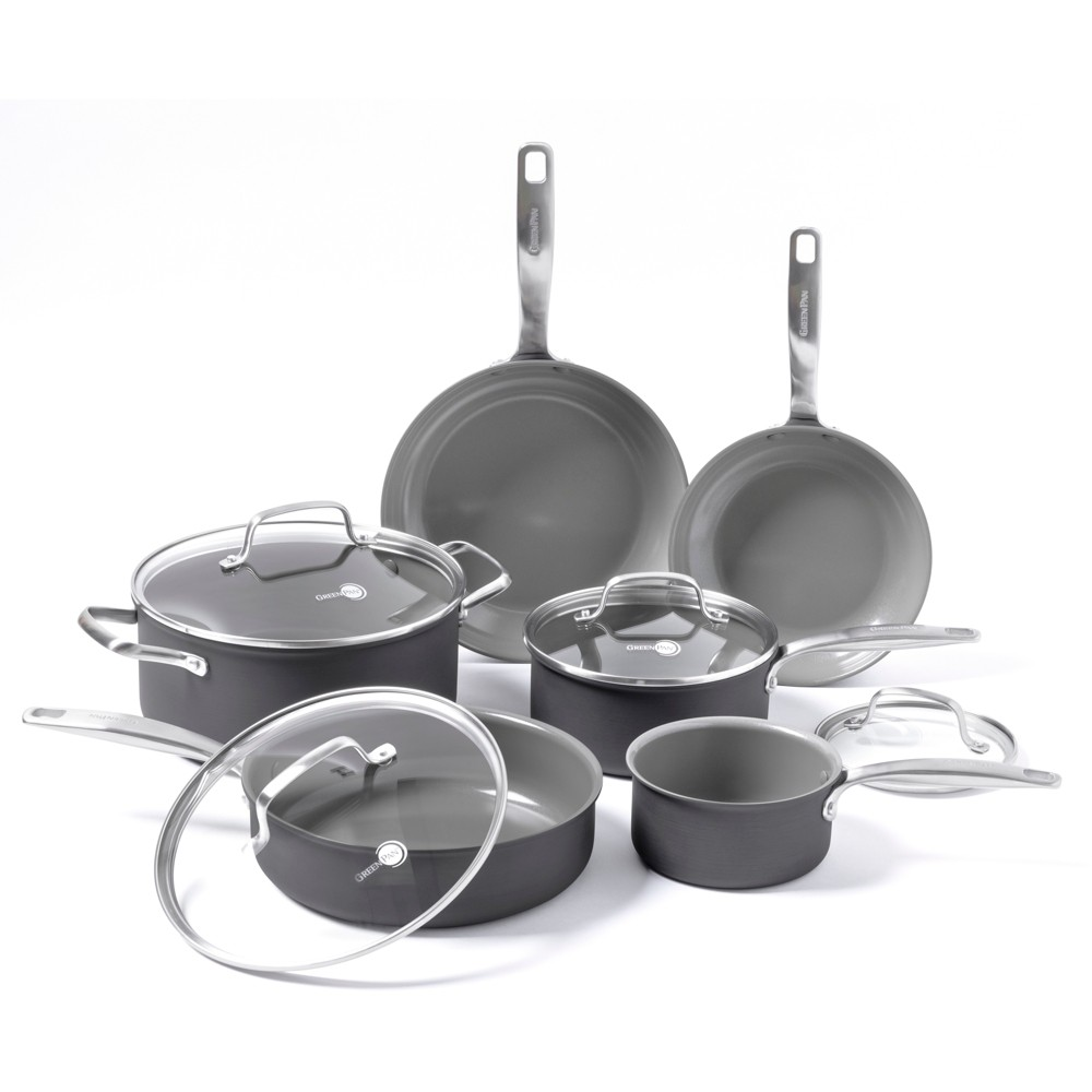 Image of GreenPan Chatham 10pc Ceramic Non-Stick Cookware Set