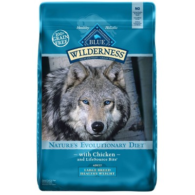 Dog Food: Blue Buffalo Wilderness Adult Large Breed Healthy Weight