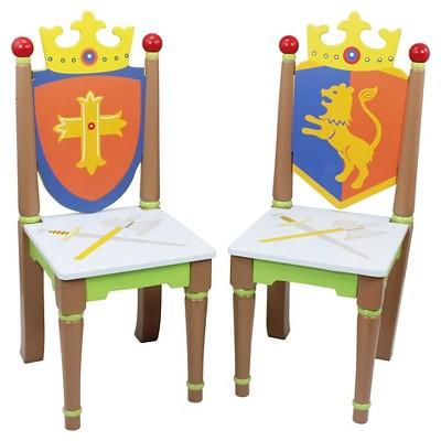 Knights & Dragon Chairs Wood (Set of 2)- Teamson
