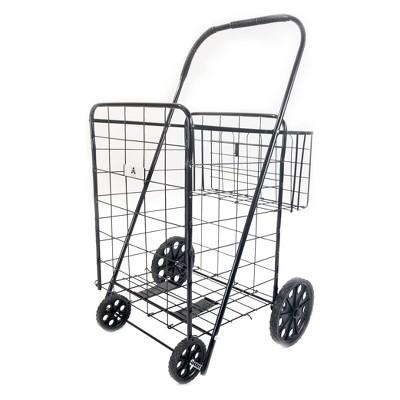 "ATHome 43""X21""X3.5"" Shopping Utility Storage Cart Black"