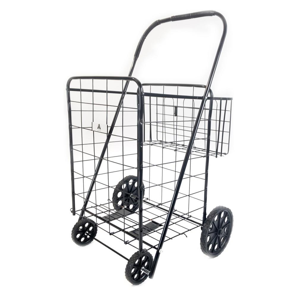 ATHome 43X21 X3.5  Shopping Cart Black ATHome 43X21 X3.5  Shopping Cart Black