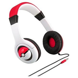Nintendo Pokemon Kids Over the ear Wired Headphones - White