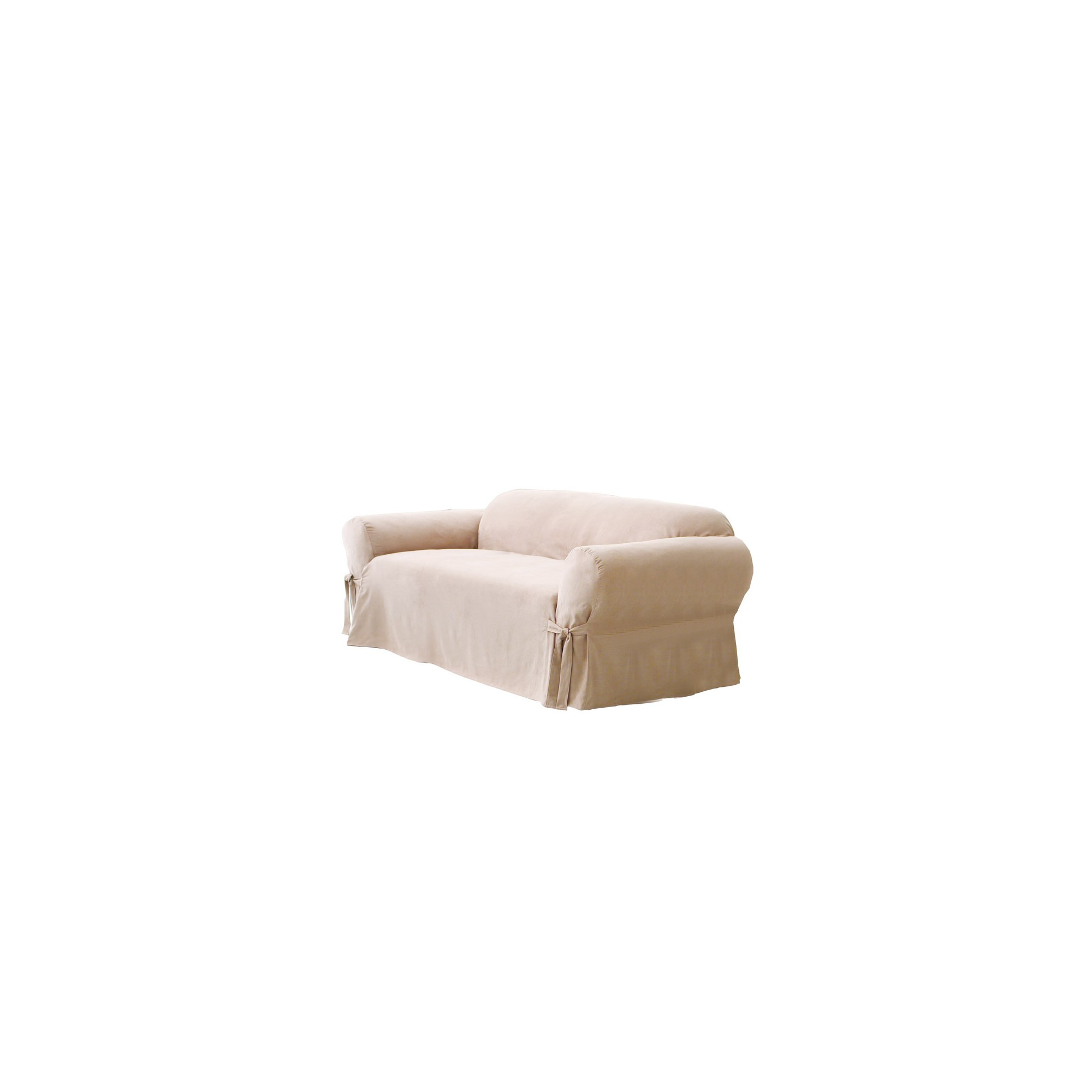 Soft Suede Sofa Slipcover Taupe - Sure Fit, Brown