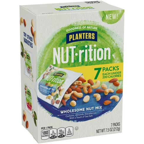 Planters Nut-Rition Wholesome Nut Deluxe Mix - 7.5oz - 6ct - image 1 of 3