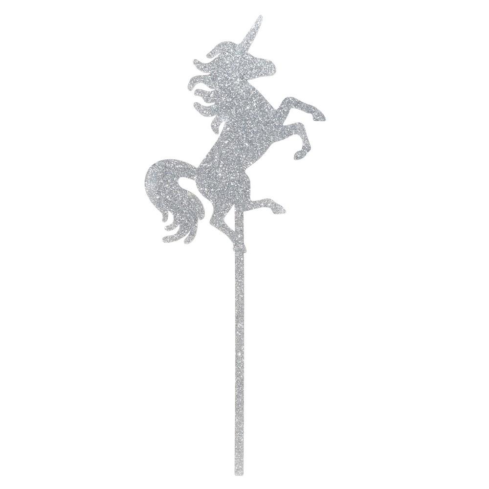 Unicorn Cake Topper - Spritz, Light Silver