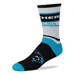 NFL Carolina Panthers Bar Stripe Adaptive Crew Socks - L