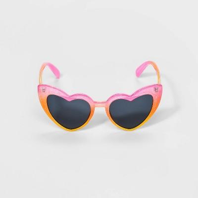 Girls' Heart Shape Sunglasses - Cat & Jack™ Pink