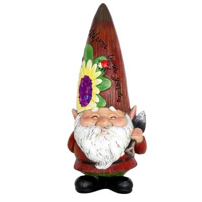 """10.43"""" Resin Garden Gnome Red - Exhart"""