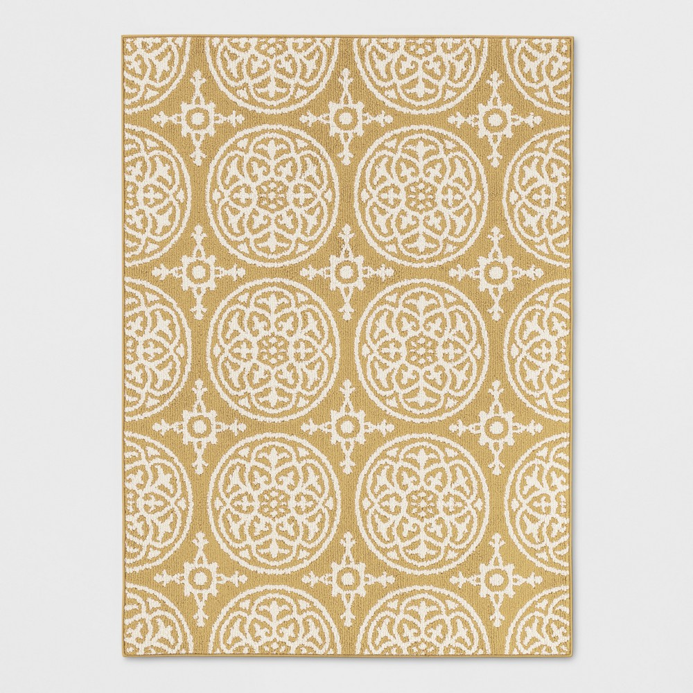 Yellow Medallion Tufted Accent Rug 4'X5'6 - Threshold