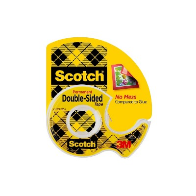 "Scotch Permanent Double-Sided Tape .5"" x 450"""