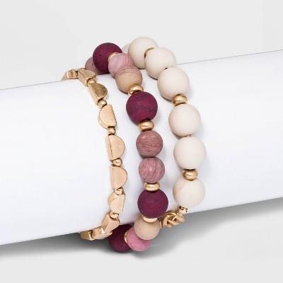 Semi-Precious Link Bracelet Set 3pc - Universal Thread™