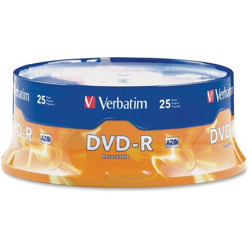 Verbatim AZO DVD-R 4.7GB 16X with Branded Surface - 25pk Spindle - 2 Hour Maximum Recording Time - image 1 of 2