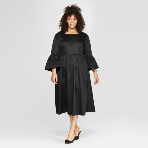Women S Plus Size 3 4 Lampshade Sleeve Maxi Dress Who What Wear