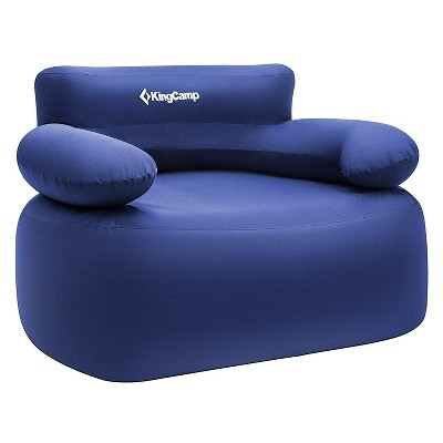 KingCamp KC2031 Inflatable Portable Air Sofa Camping, Beach, & Travel Chair Lounger with Carry Bag For Single Person Use, Supports 660 Pounds, Blue