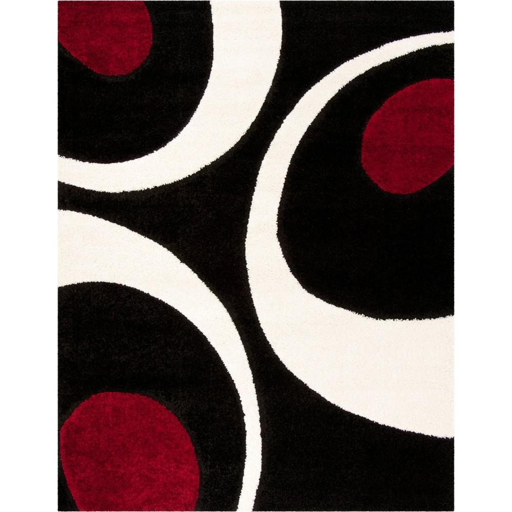 8'6X12' Shapes Loomed Area Rug Black/Ivory - Safavieh
