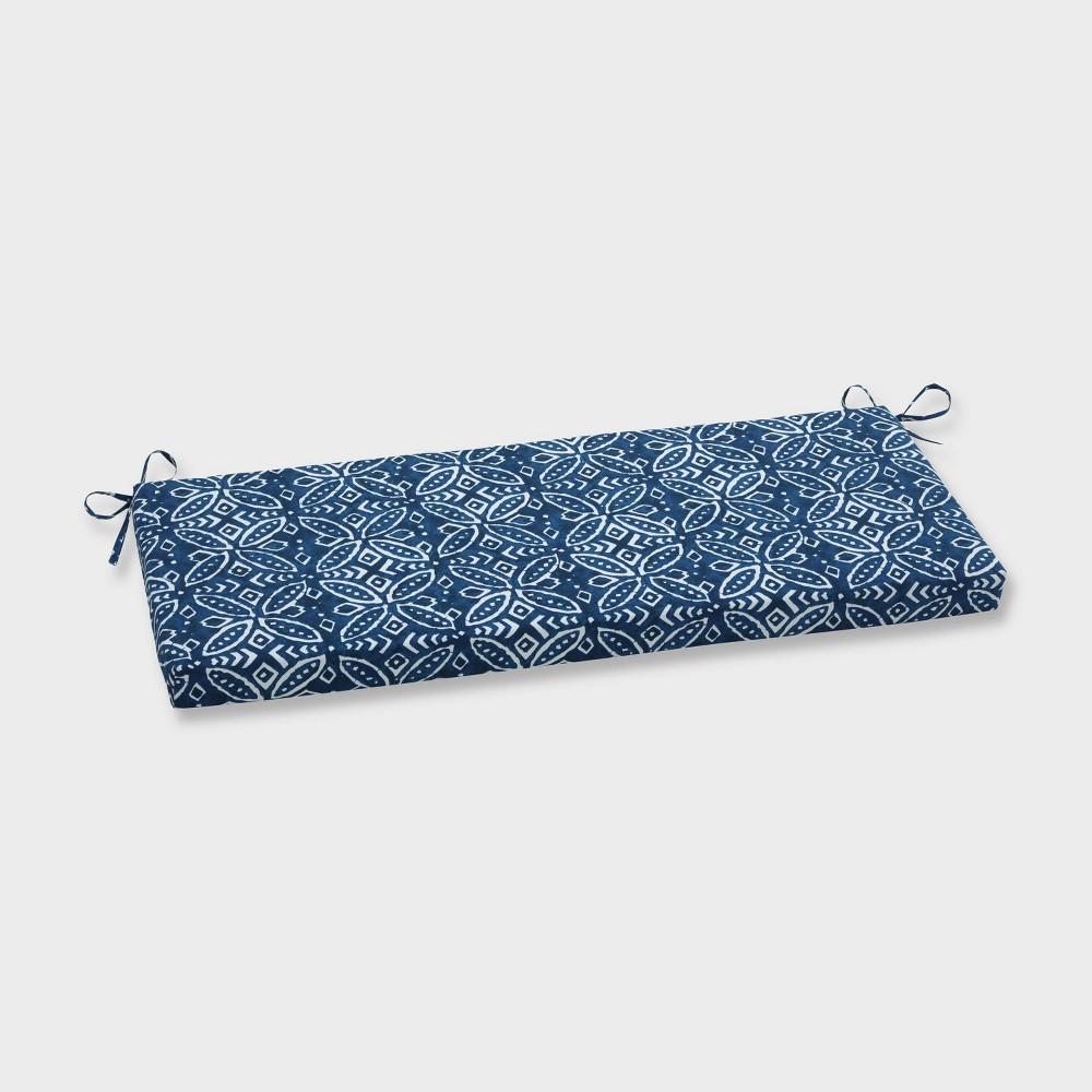 Merida Indigo Outdoor Bench Cushion Blue Pillow Perfect