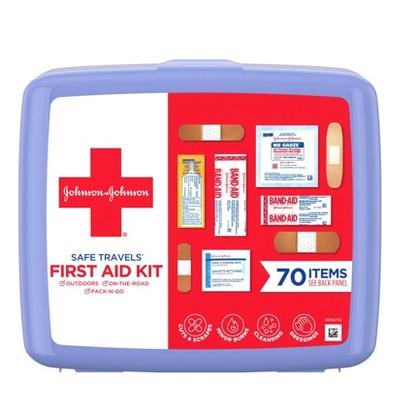 Johnson & Johnson Safe Travels First Aid Kit - 70 pc