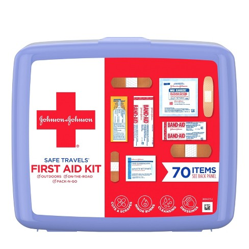 Johnson & Johnson Safe Travels First Aid Kit - 70 pc - image 1 of 11